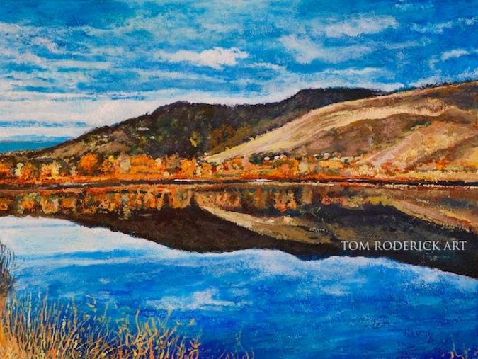 Portrait of Wonderland Lake, Boulder Colorado by Boulder artist Tom Roderick.