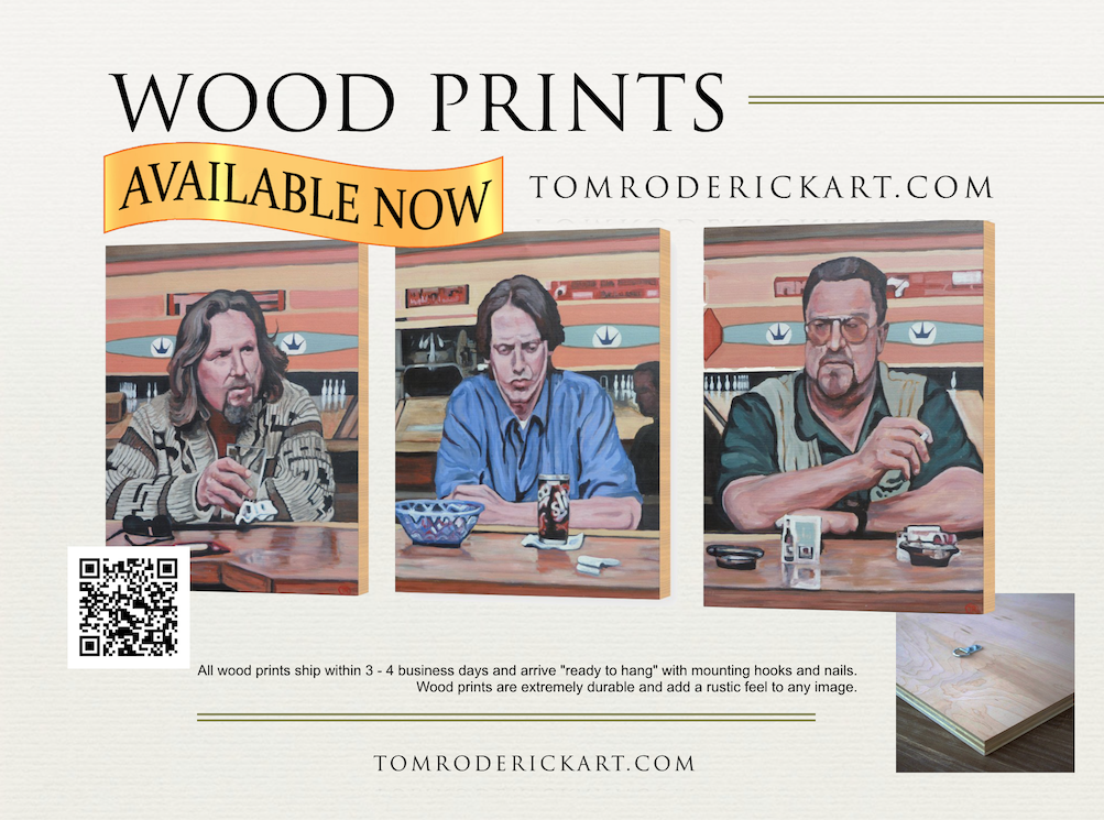 Wood prints by Boulder portrait artist Tom Roderick.