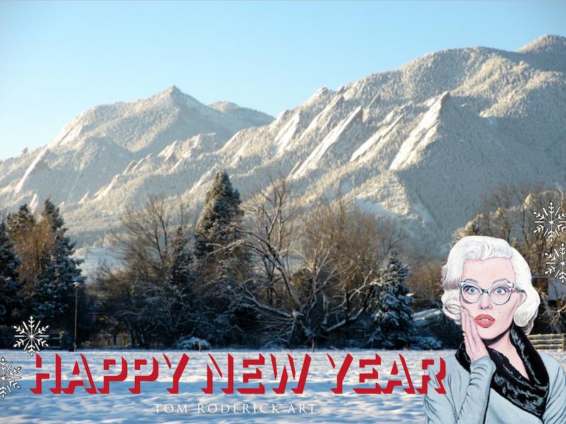 Happy New Year 2019  Tom Roderick Art