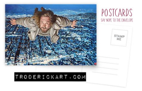 Come Fly with Me Postcard by Boulder portrait artist Tom Roderick.