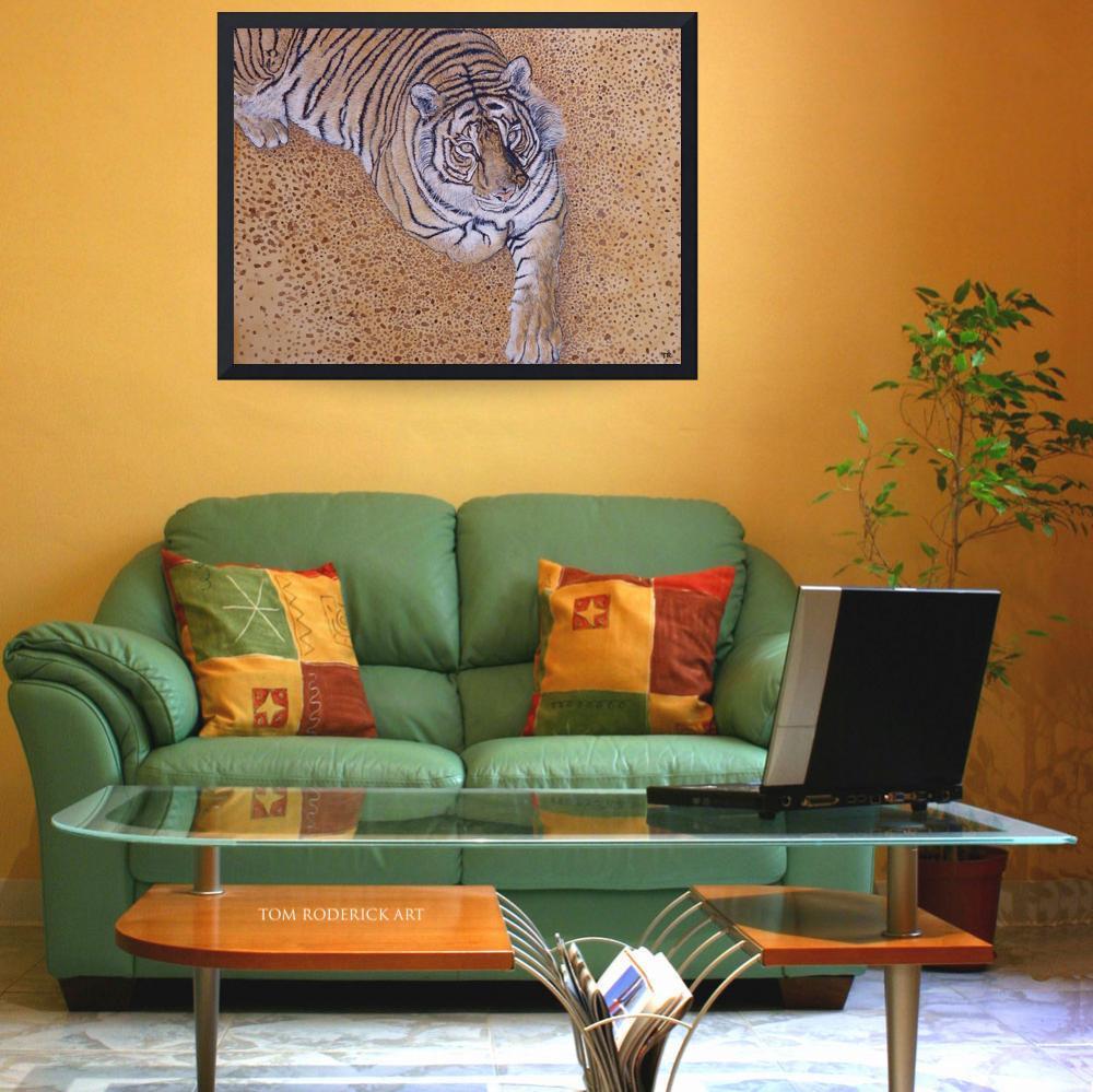 Portrait of bengal tiger by Boulder artist Tom Roderick.
