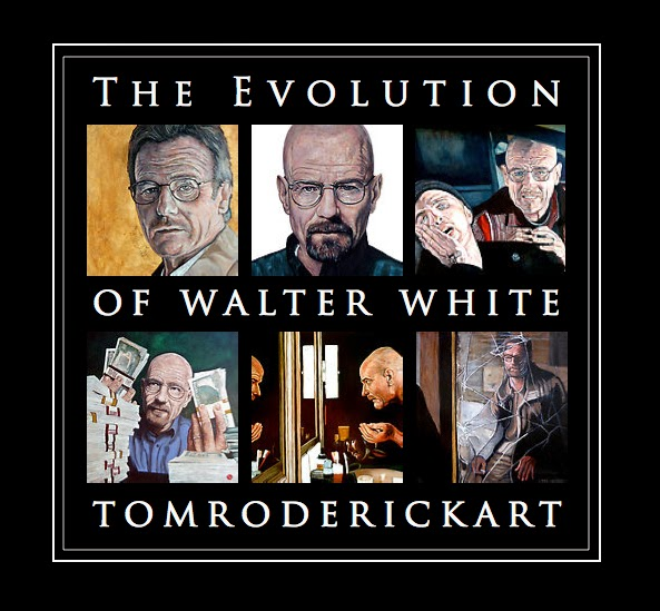 The Evolution of Walter White by Boulder portrait artist Tom Roderick.