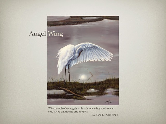 Angel Wing painting by the wonderful Kent McCain.