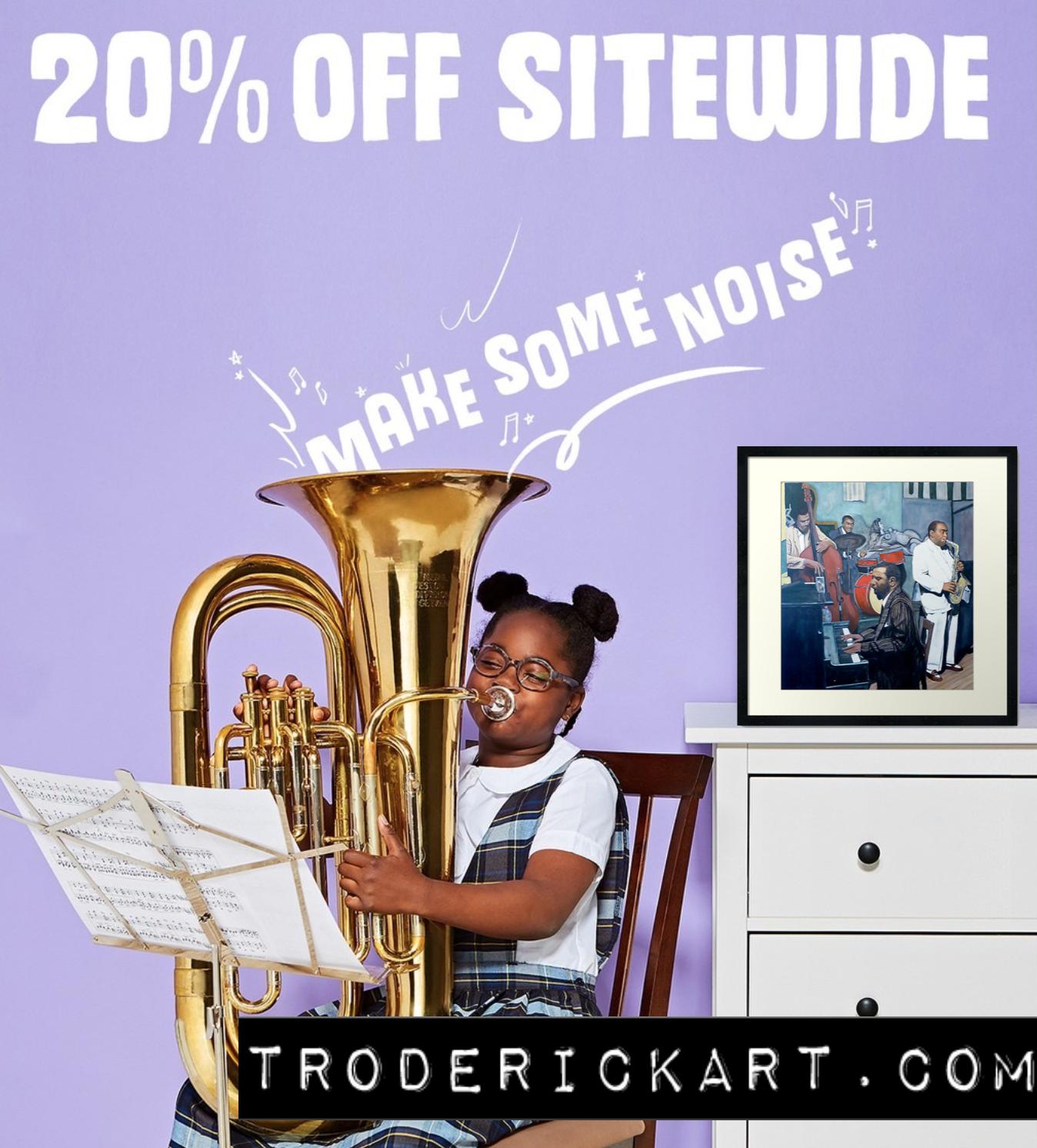 20% off Troderickart.com promo