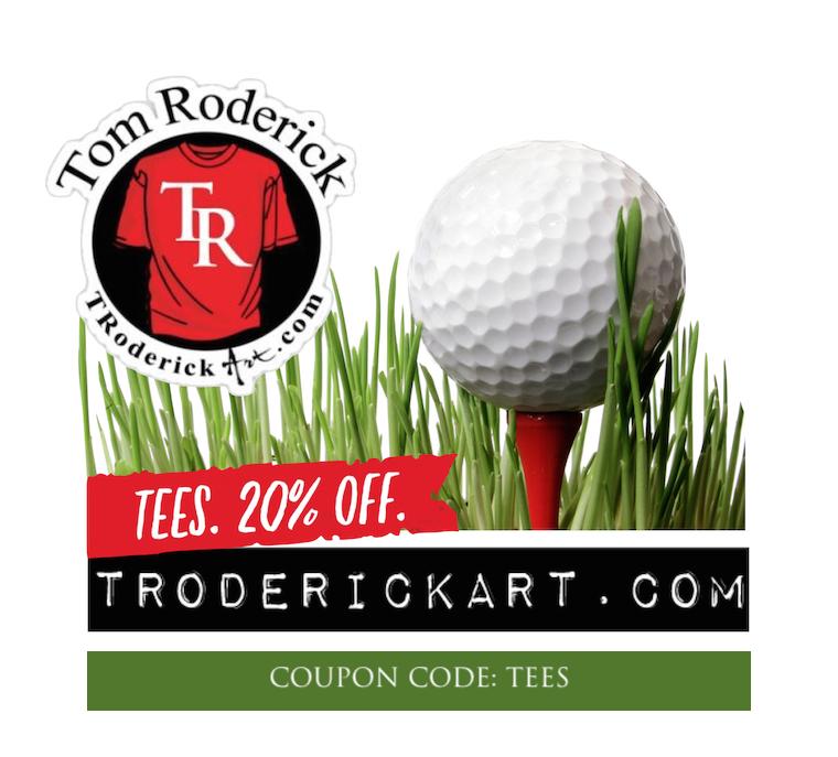 Coupon code TEES promo Troderickart.com