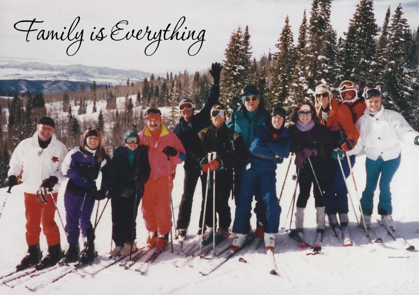 Stalmack Family skiing Storm Peak Steamboat Springs CO