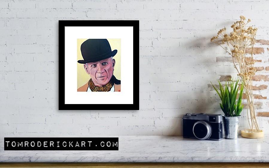 Portrait of Pablo Picasso by Boulder portrait artist Tom Roderick.