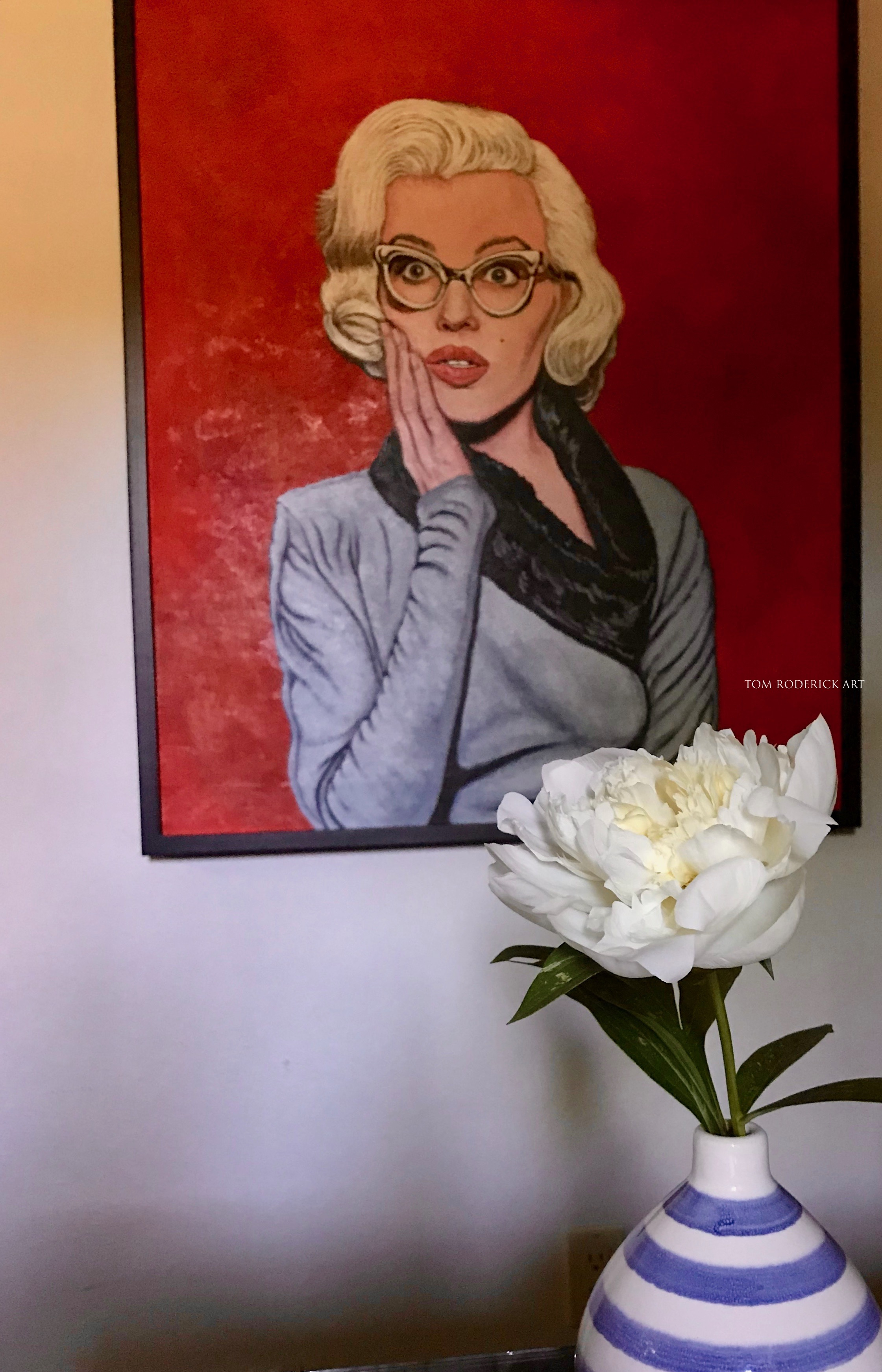 OMG portrait of Marilyn Monroe by Boulder portrait artist Tom Roderick.