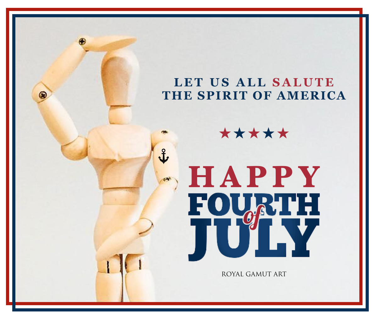 Fourth of July promo Royal Gamut Art