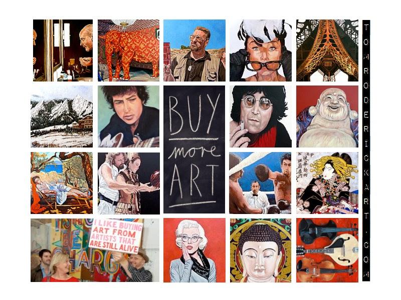 Buy more artwork paintings by Boulder artist Tom Roderick.