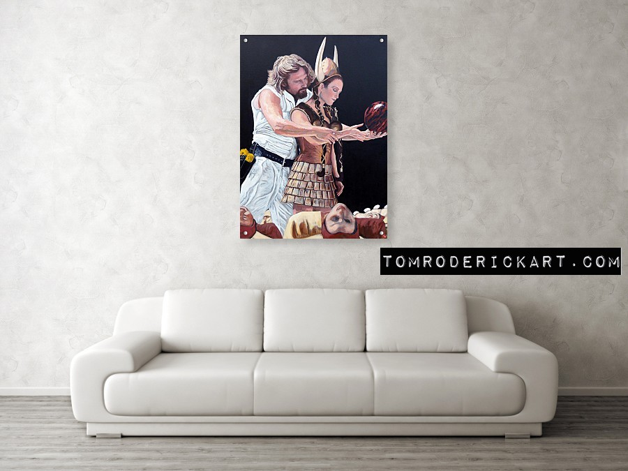 The Dude and Maude portrait printed on acrylic prints by Tom Roderick Art.
