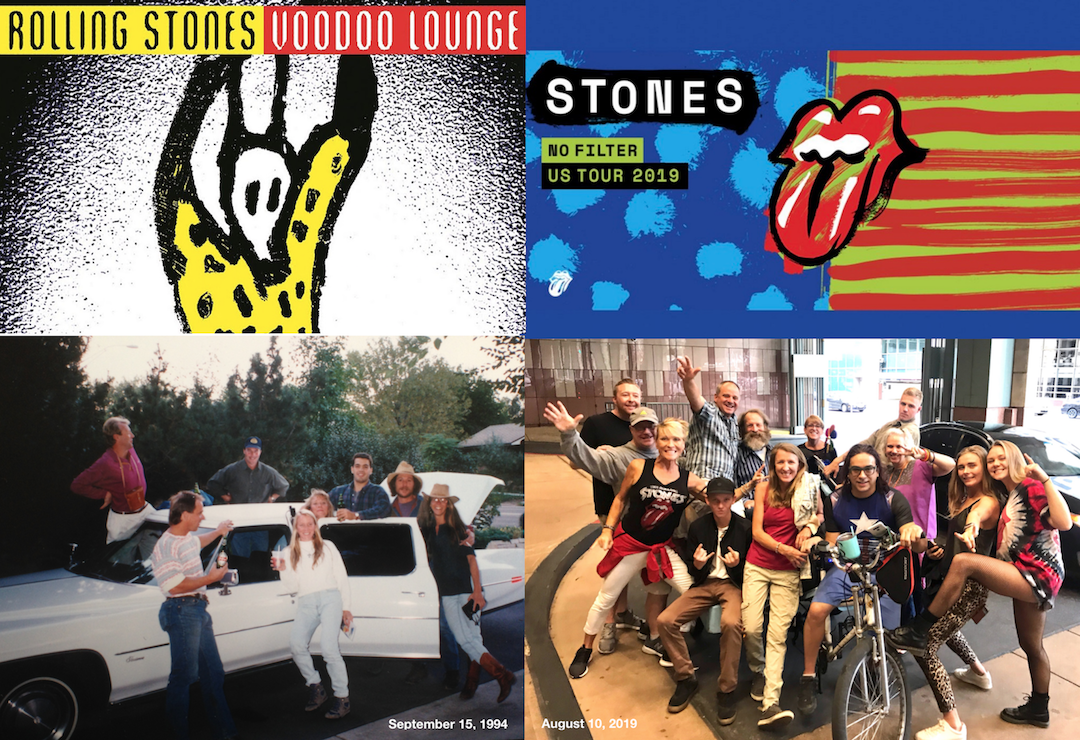 Rolling Stone concert then and now family photo