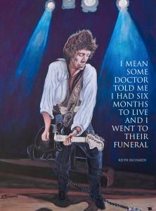 Portrait of Keith Richards by Boulder artist Tom Roderick
