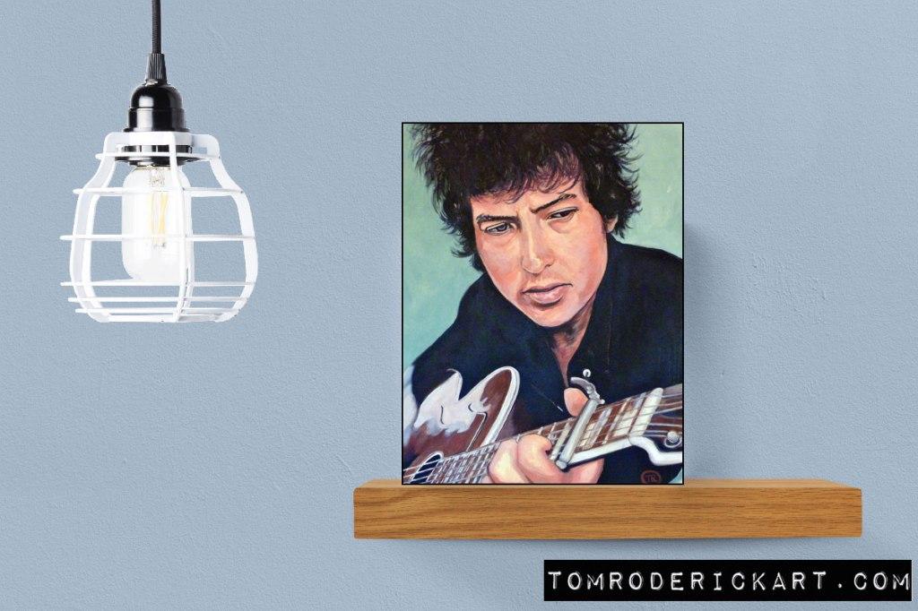 The Man in Me portrait of Bob Dylan by Boulder portrait artist Tom Roderick.