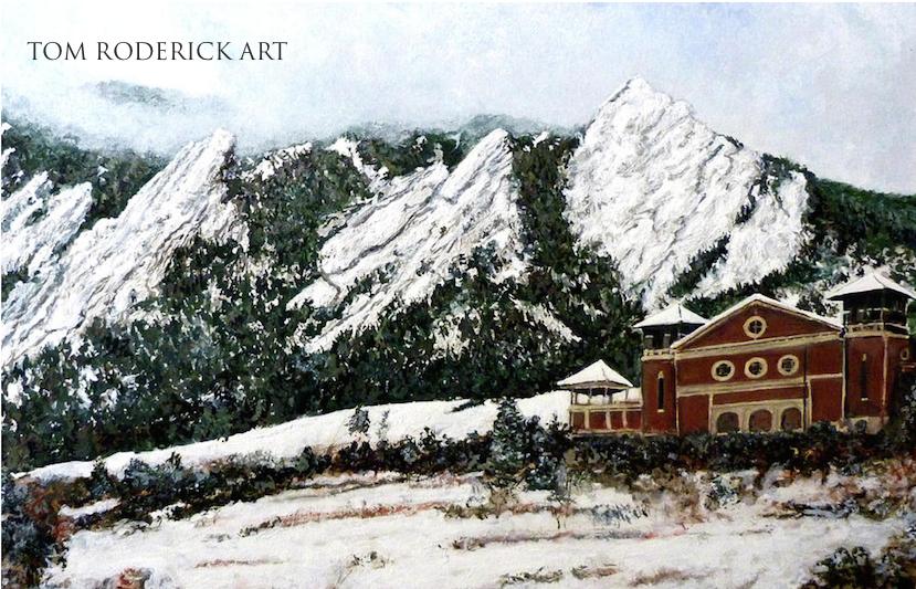 Chautauqua - Winter, Late Afternoon by Boulder artist Tom Roderick.