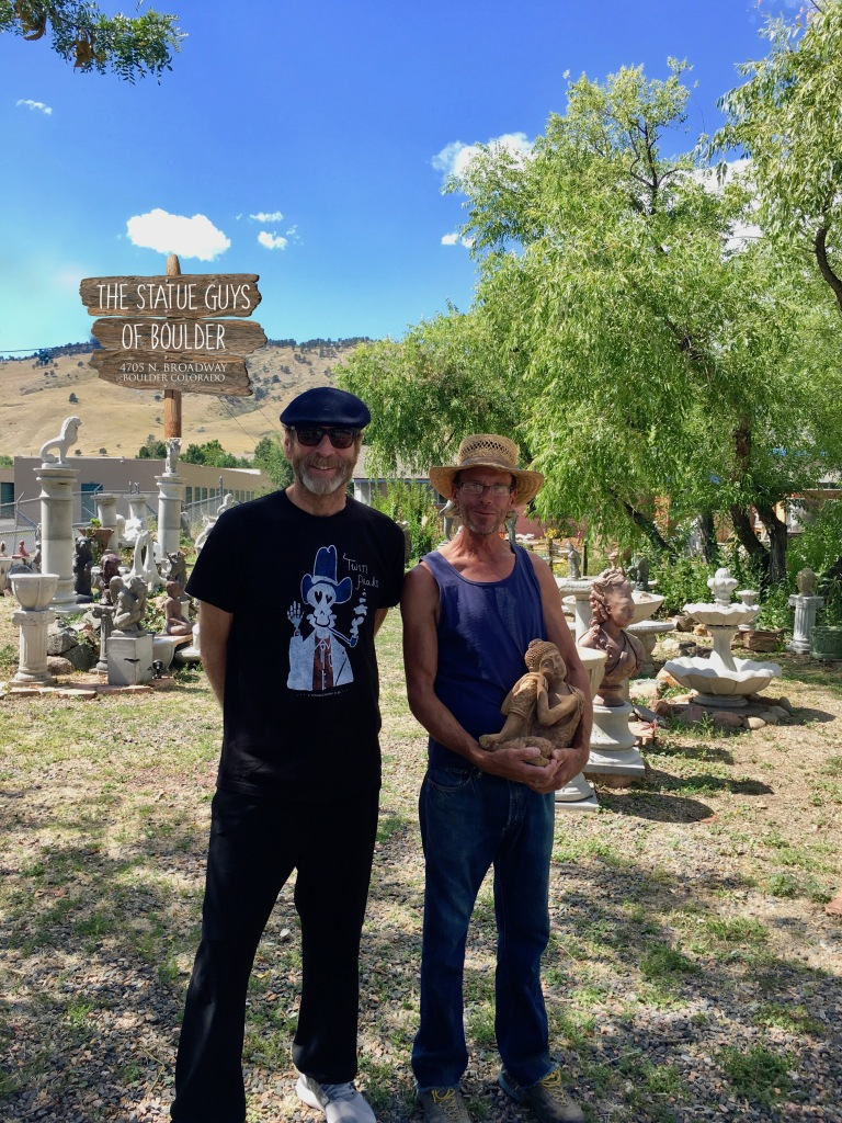 Fellow Boulder artists Tom Roderick and Josh Hatch.