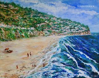 Torrance Beach, Palos Verdes Peninsula painting by Boulder artist Tom Roderick