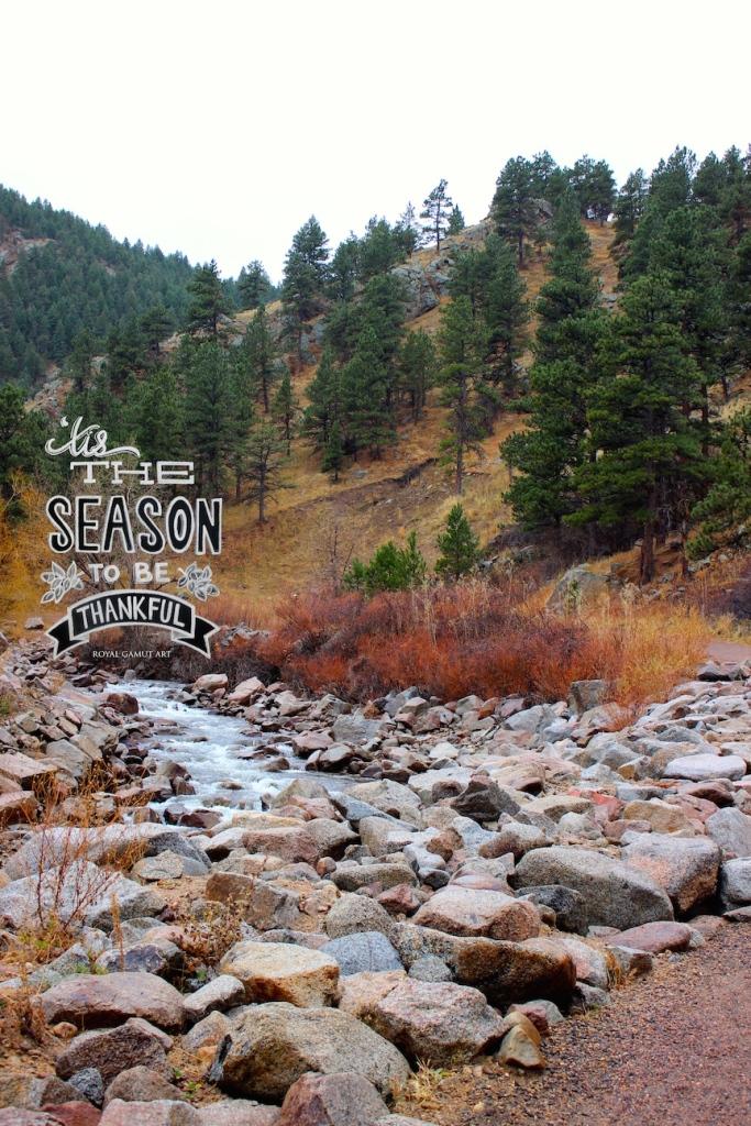 Boulder creek path thankfulness photo