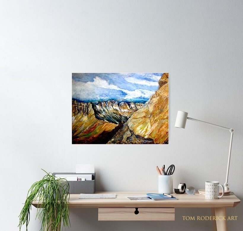 Mount Sneffels Poster Designed by Tom Roderick