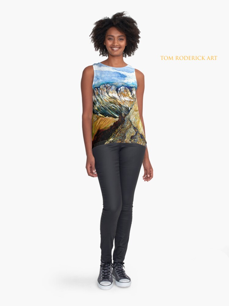Mount Sneffels Sleeveless Top Designed by Tom Roderick