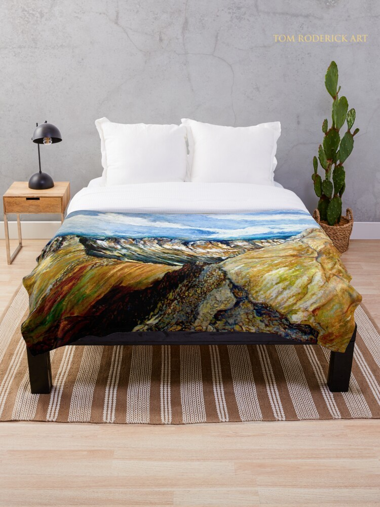 Mount Sneffels Throw Blanket Designed by Tom Roderick