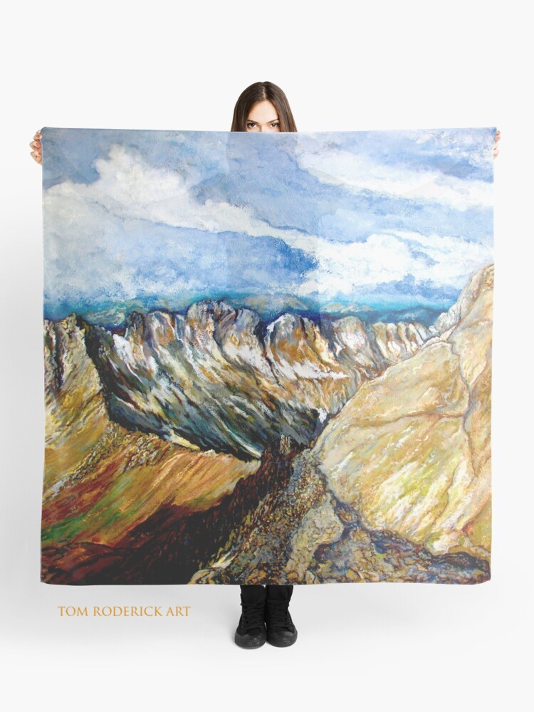 Mount Sneffels Scarf Designed by Tom Roderick