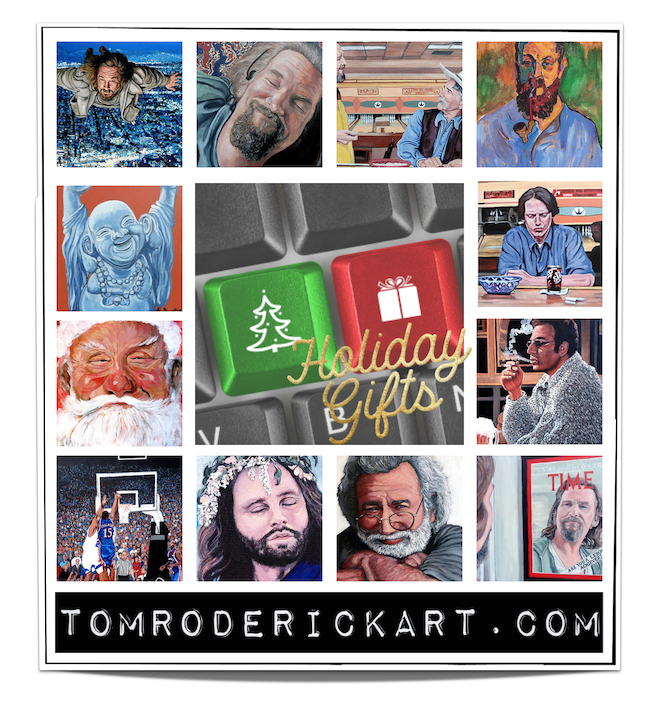 Holiday gift promo Tom Roderick Art