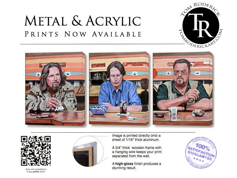 Metal prints by Boulder portrait artist Tom Roderick.