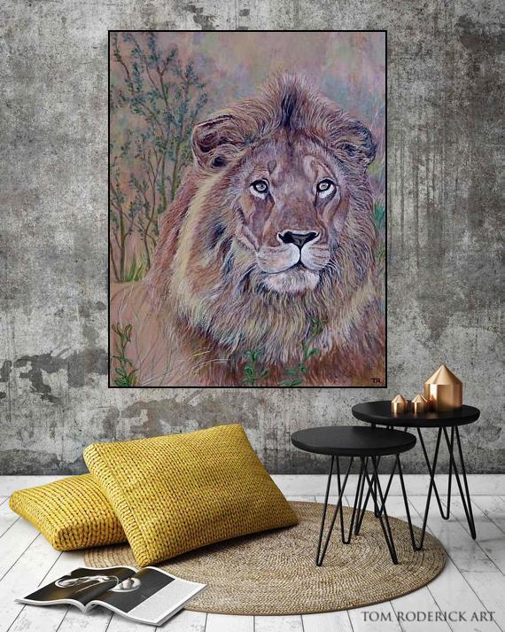 Frank the Lion by Boulder artist Tom Roderick.