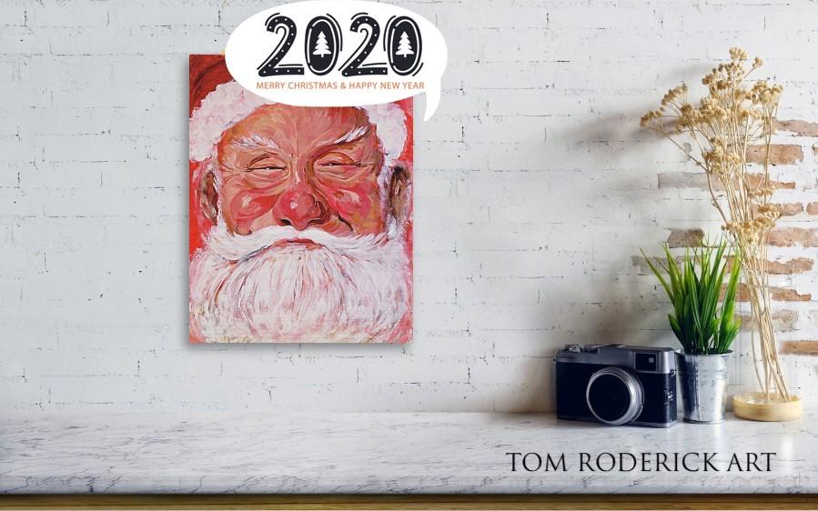 Portrait of Santa by Boulder portrait artist Tom Roderick.