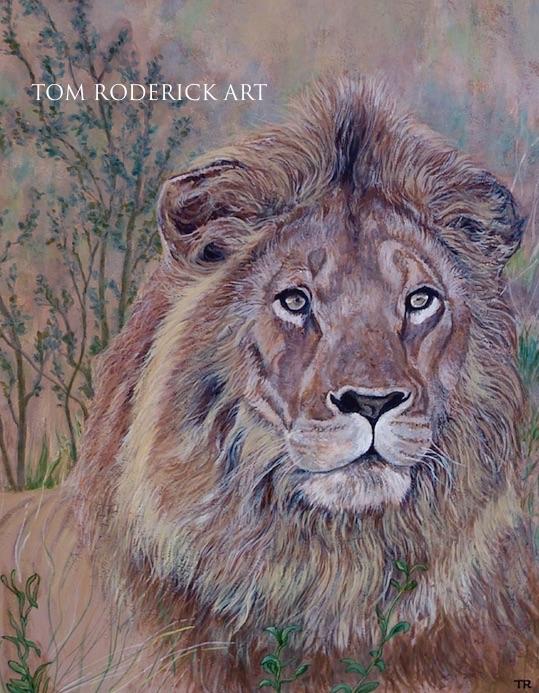 Frank the Lion by Boulder artist Tom Roderick