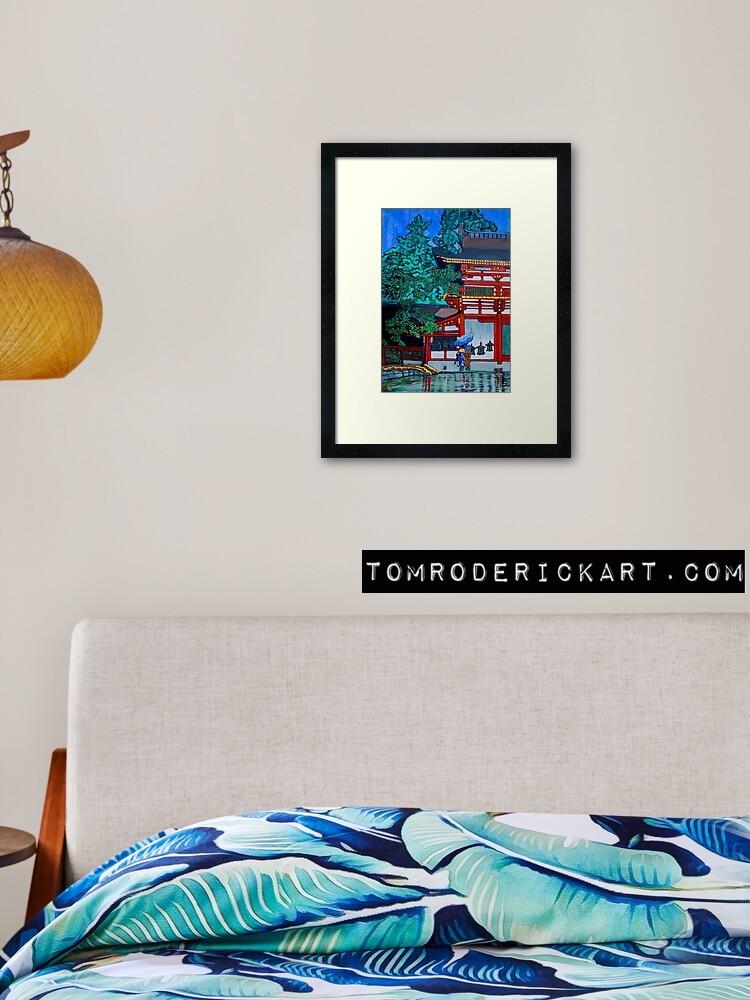 Framed Print of Tom Roderick's interpretation of Artist interpretations of Kasuga Shrine, Nara