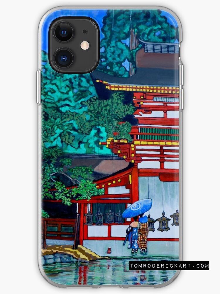 iPhone Case  of Tom Roderick's interpretation of Artist interpretations of Kasuga Shrine, Nara