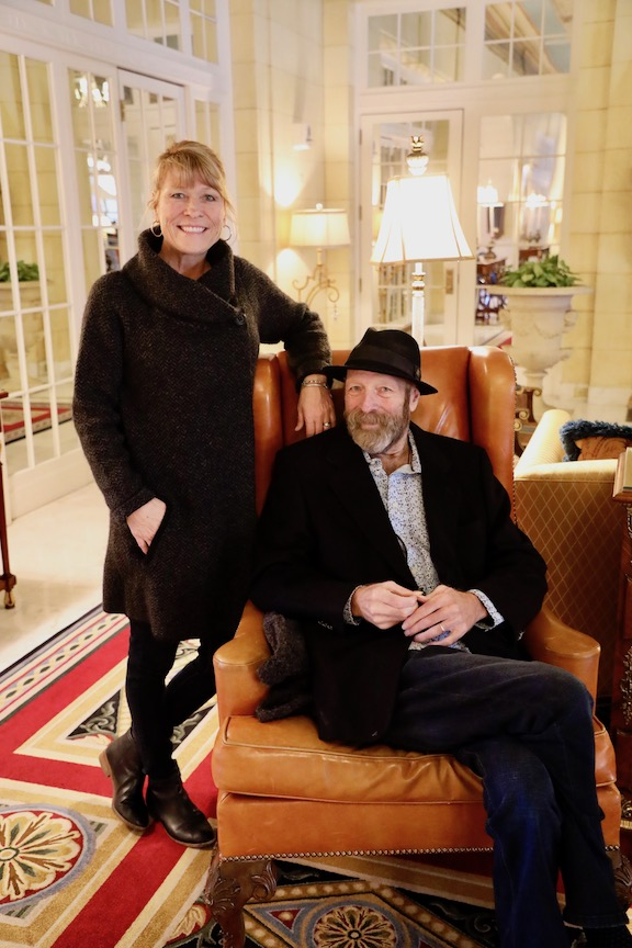 Boulder artist Tom and his wife Donna Roderick at the Broadmoor Hotel celebrating TR's 24 months post surgery milestone.
