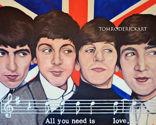 All You need Is Love by Boulder portrait artist Tom Roderick.