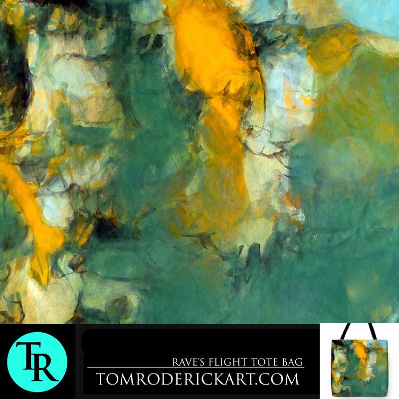 Rave's Flight tote bag by Boulder artist Tom Roderick.