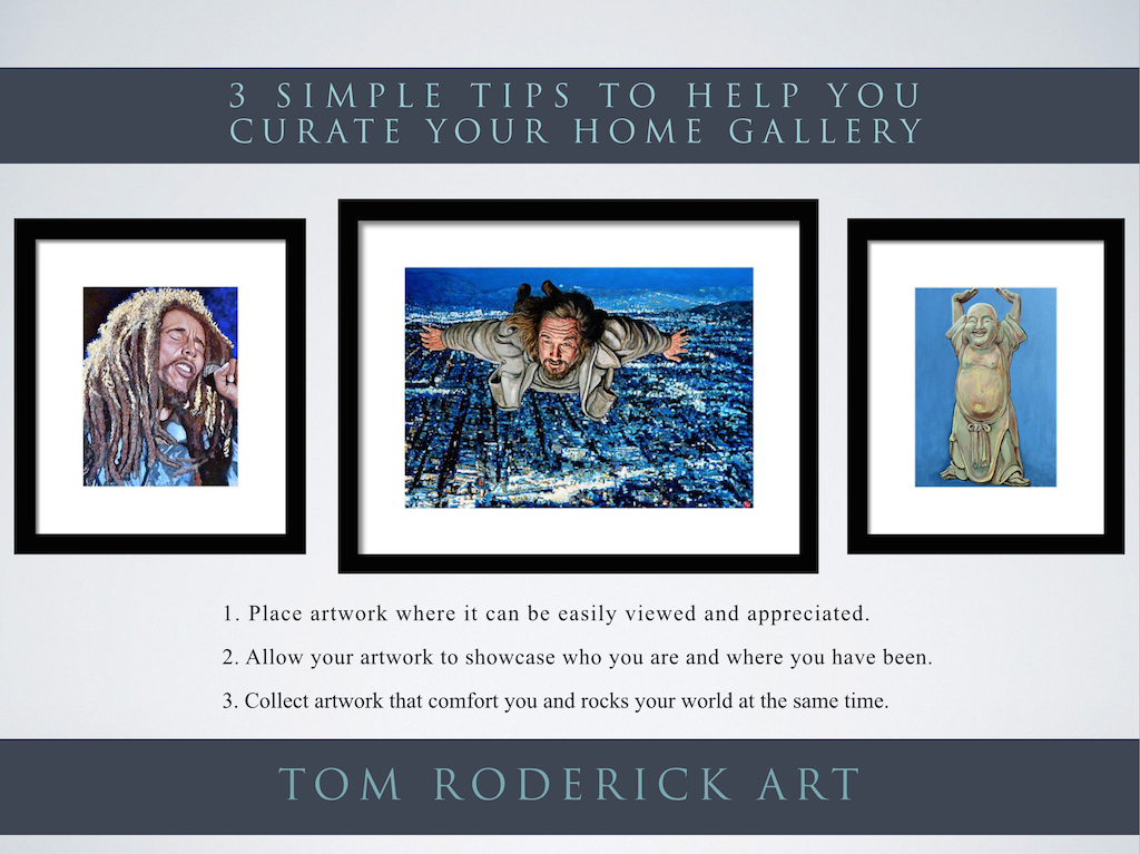 Curate Your Home Gallery with art by TR