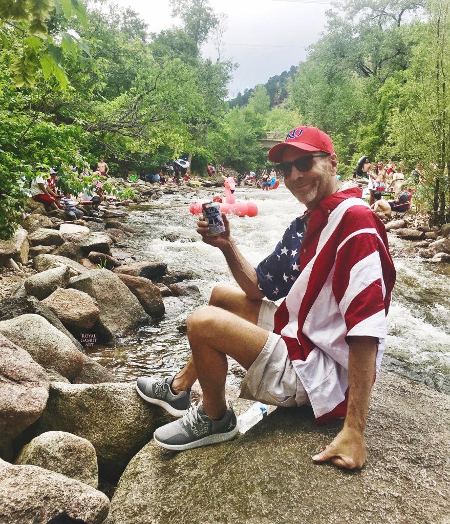 Tom Roderick July 4,  2018 Boulder Creek