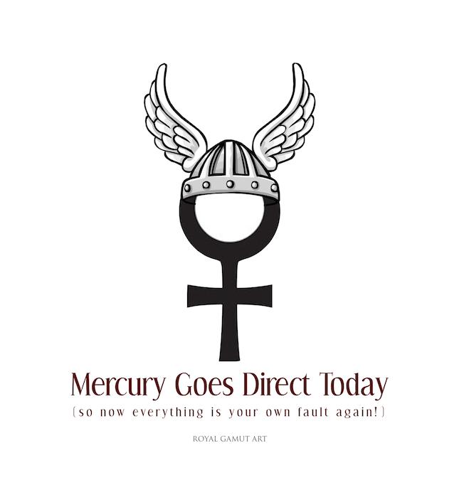 mercury goes direct