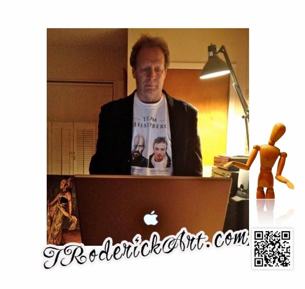 Team Heisenberg t-shirt by Boulder portrait artist Tom Roderick