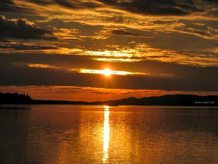 Ottawa river at sunset.