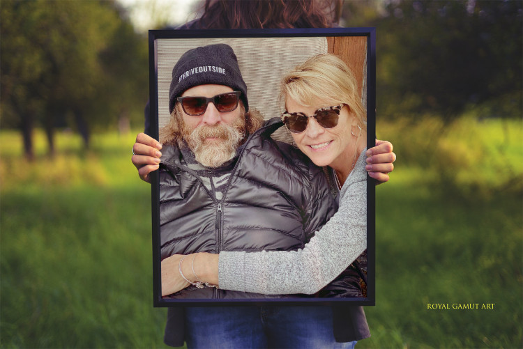 Boulder artist Tom Roderick with his lovely wife of 28 years Donna.