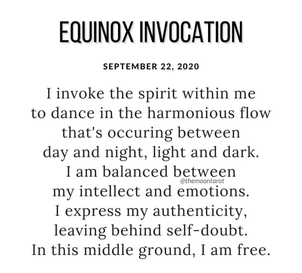 Equinox invocation by the moon tarot for September 22, 2020
