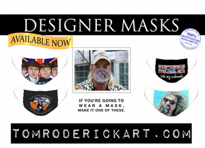 designer masks by Tom Roderick Art