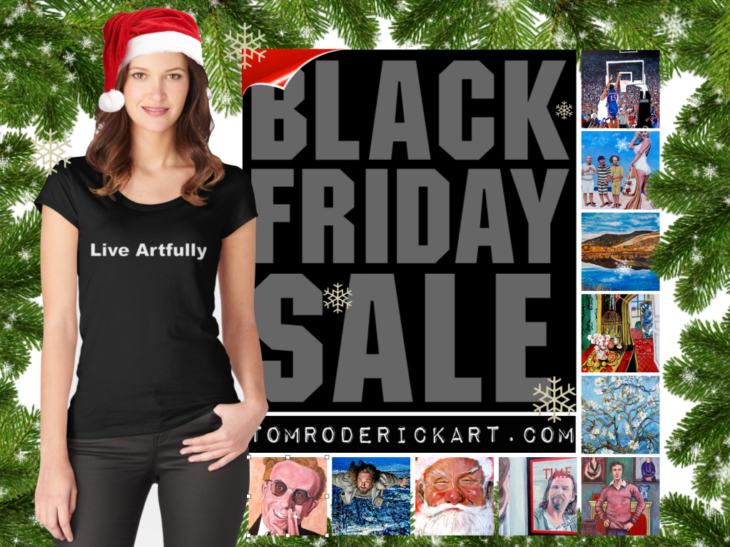 Black friday promo tom roderick art