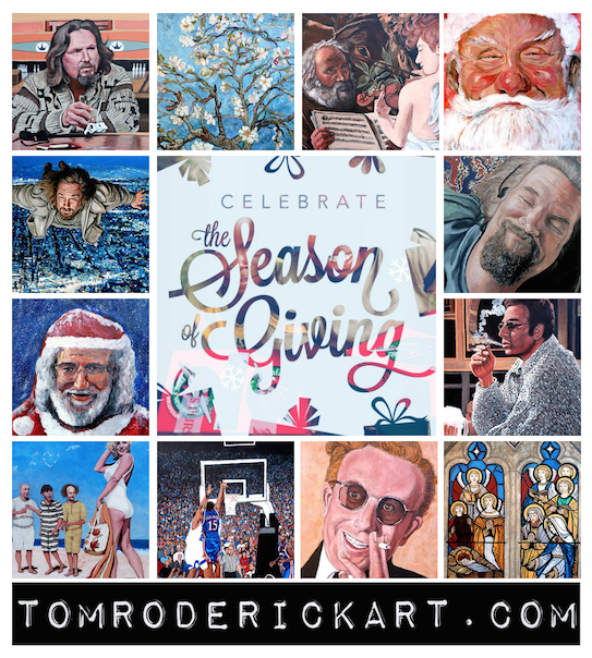 Celebrate the season of giving with the gift of art by American artist Tom Roderick.