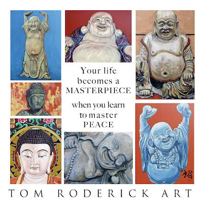 Buddha art promo for Tom Roderick Art