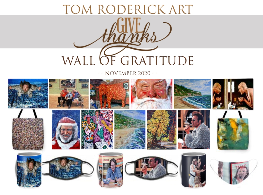 gratitude Wall November 2020 Tom Roderick Art