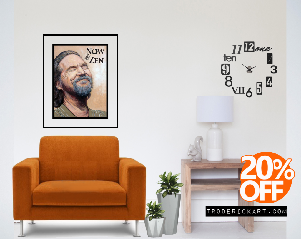TRoderick art 20% off promo every now and zen.