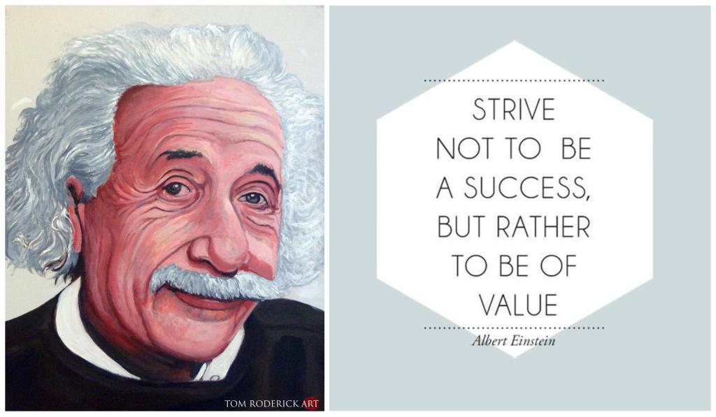 Einstein quote by Tom Roderick Art